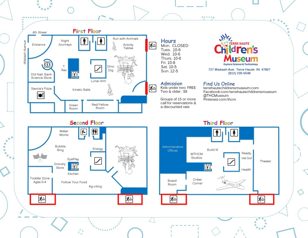 Terre Haute Children's Museum Map